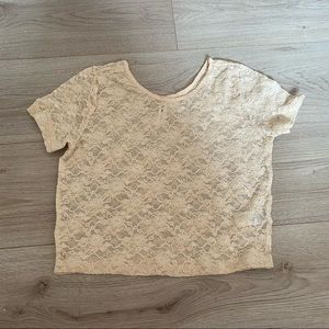 See through lace t shirt